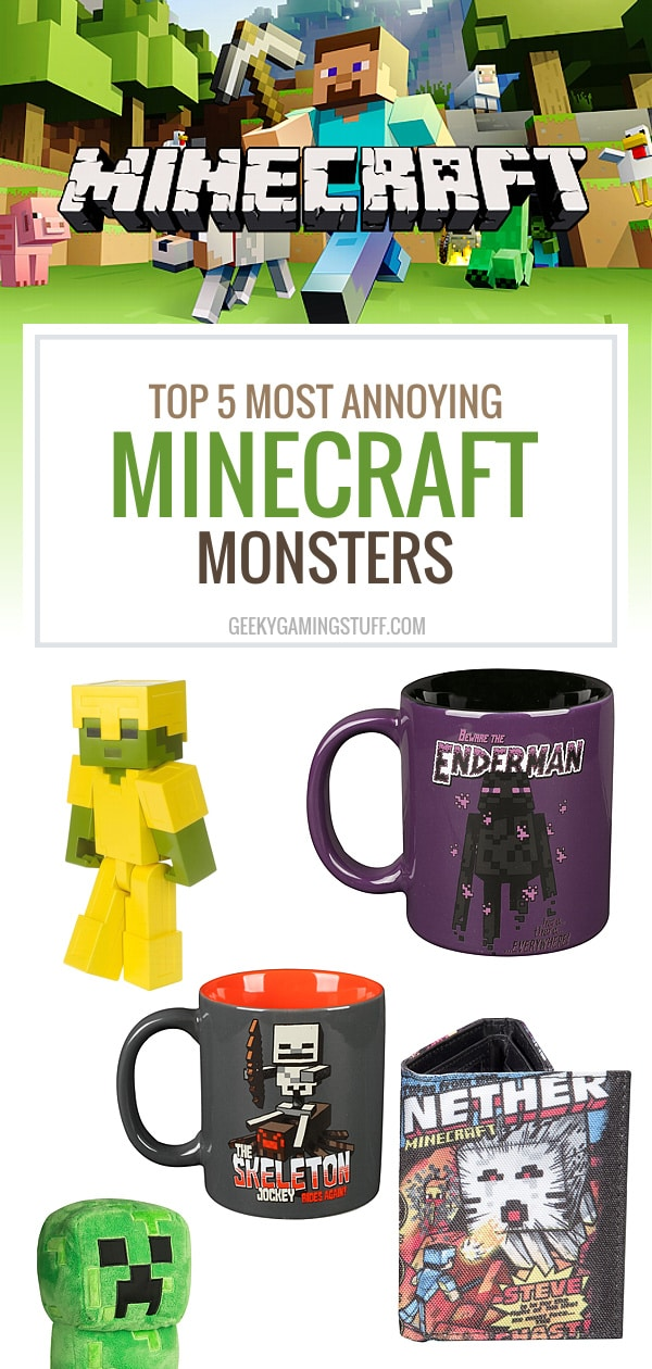 Have you ever played Minecraft? Then you know that Minecraft has some annoying hostile mobs. From floating creepers to wannabe Slendermen, here's my top 5!