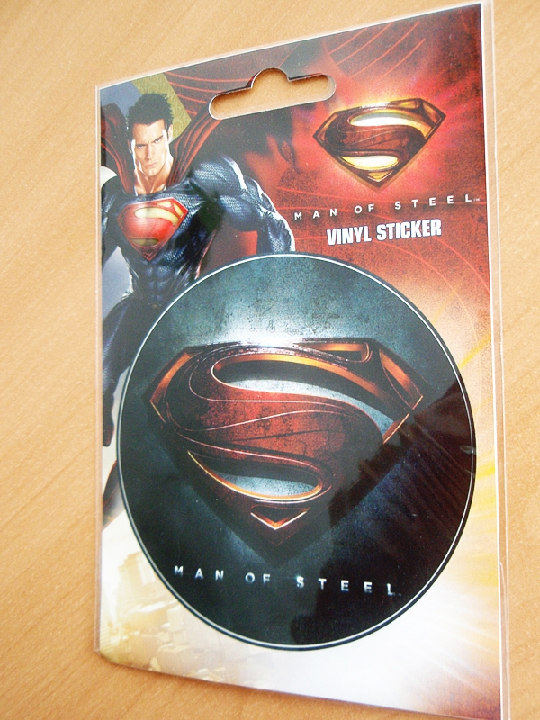 Man of steel vinyl sticker