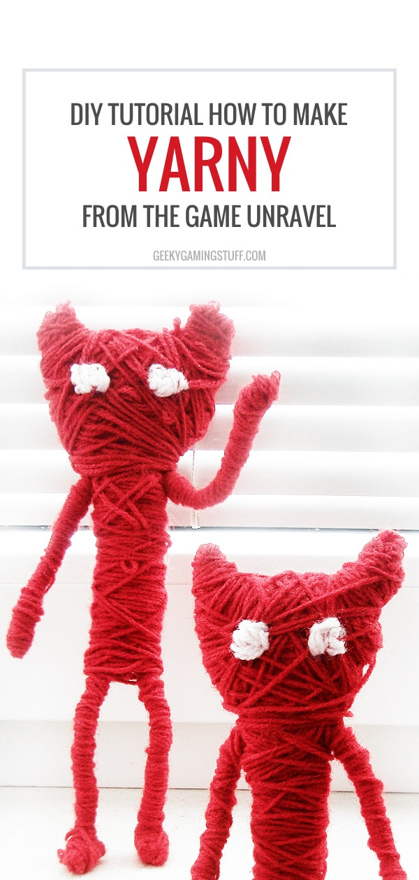 Have you ever played the puzzle game Unravel? It's definitely stunning with its sceneries and the main character Yarny, a cute little figure made of yarn. It's relatively easy to make your own Yarny at home, all you need is some yarn, wire, pliers and wire cutters and you're well set! Check out this tutorial on how to make Yarny from Unravel.