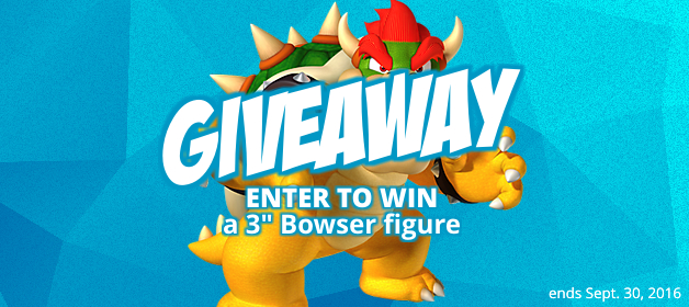 Super Mario Bowser Figure Giveaway!