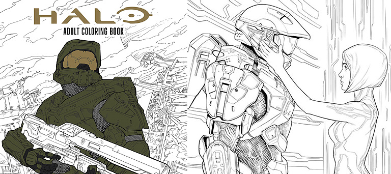Coloring book - Halo