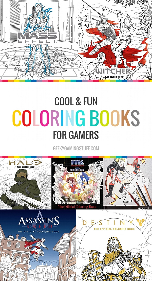 Coloring books are no longer a kid's hobby. Many adults worldwide partake in this relaxing activity. I never even realized how many types of coloring books there were and only recently thought to search for some video game related coloring books. There are so many! Perfect for any gamer.