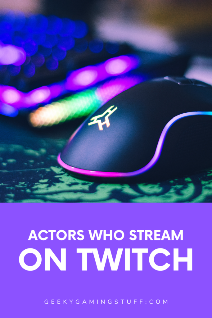 Actors Streaming On Twitch Pinterest image