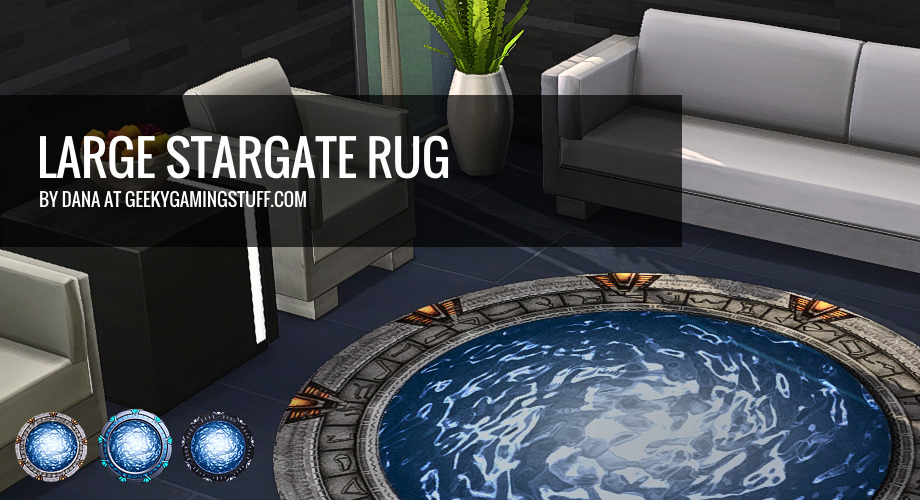 Large Stargate Sims 4 Rug