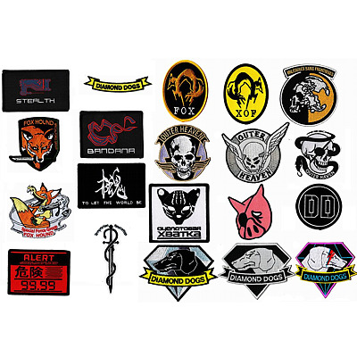 MGS Embroidered Patches
